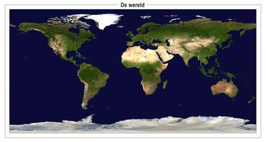 Wereld satellietkaart