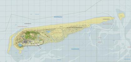 Topografische kaart Schiermonnikoog