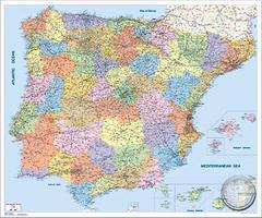 Postcodekaart Spanje en Portugal