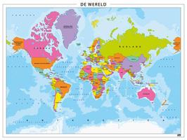 Staatkundige wereldkaart eenvoudig