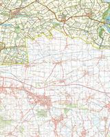 Gevouwen Topografische Kaart 54 West Terneuzen