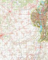 Gevouwen Topografische Kaart 61 Oost Maastricht