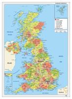 Verenigd Koninkrijk Kaart Staatkundig