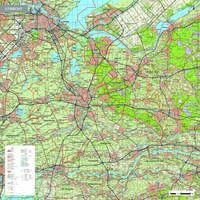 Topografische kaart Utrecht 1:100.000