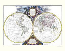 Digitale Wereldkaart Robert de Vaugondy