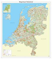 Wegenkaart Nederland met afritnamen