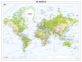 Wereldkaart Natuurkundig 267