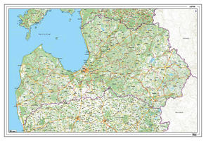 Wegenkaart Letland