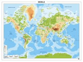 Digitale Wereldkaart Natuurkundig