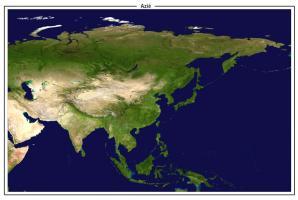 Digitaal Satellietbeeld Azië 1331