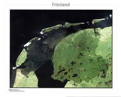 Satellietkaart Friesland