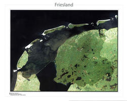Digitale Satellietkaart Friesland