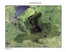 Satellietkaart Gelderland