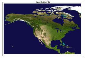 Satellietbeeld Noord-Amerika