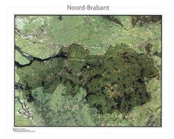 Satellietkaart Noord-Brabant