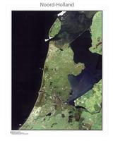 Digitale Satellietkaart Noord-Holland
