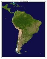 Satellietbeeld Zuid-Amerika