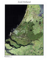 Digitale Satellietkaart Zuid-Holland