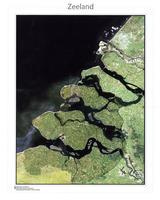 Satellietkaart Zeeland