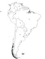 Gratis digitale kaart Zuid-Amerika