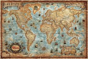 Modern World Antique Map