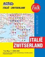 Routiq autokaart Italië/Zwitserland Tab Map