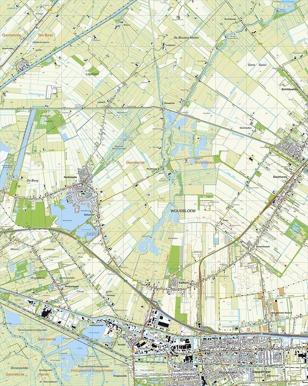 Topografische Kaart 7G Hoogezand | Kaarten en Atlassen.nl