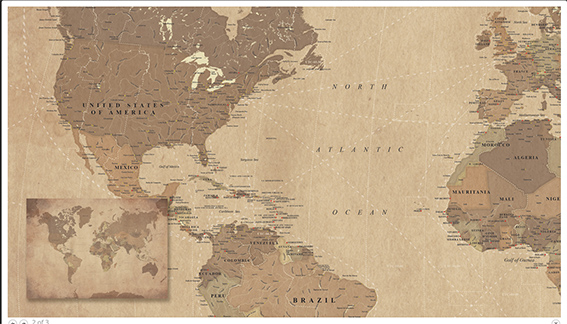wereldkaart met vaarroutes